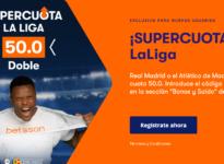 Betsson: R. Madrid - At. Madrid. Doble supercuota 50.0 -> https://todoapuestas.com/go/supercuotabetsson
